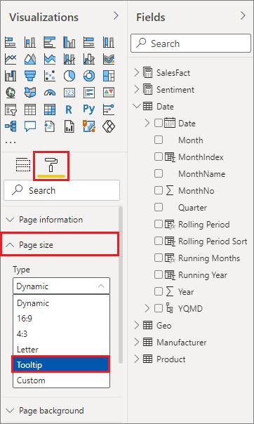 Using report tooltip pages in Power BI - Power BI | Microsoft Docs