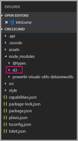 D3 Library in visual Studio code