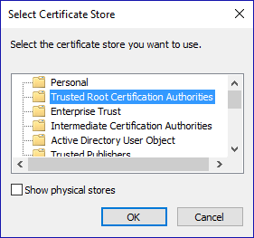 Trusted root cert