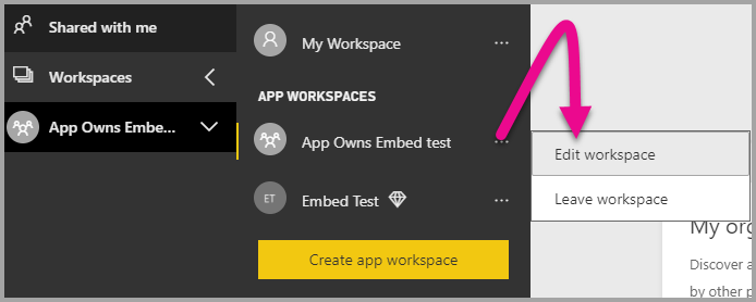 Embedded analytics to embed Power BI content in your