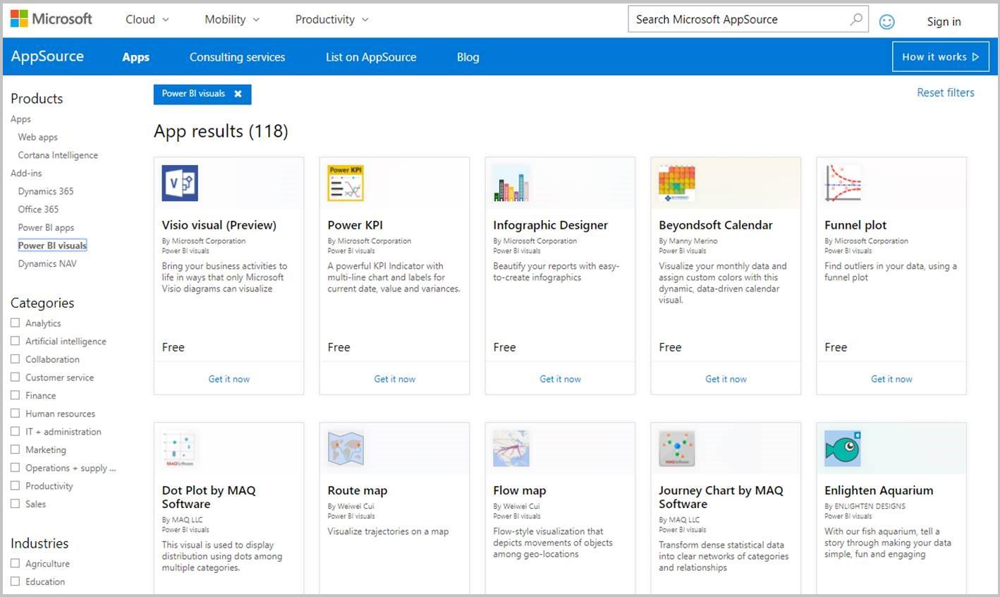 Publish custom visuals to AppSource - Power BI | Microsoft Docs