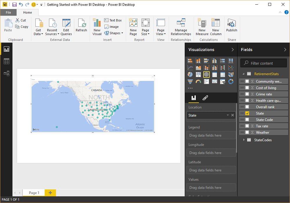 Screen shot of Microsoft Power BI Query Editor