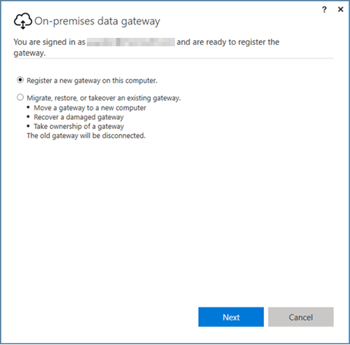 on premises data gateway power bi microsoft docson prem data gateway install register recovery
