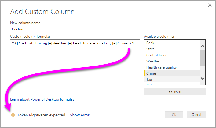 Add a custom column in Power BI Desktop - Power BI | Microsoft Docs