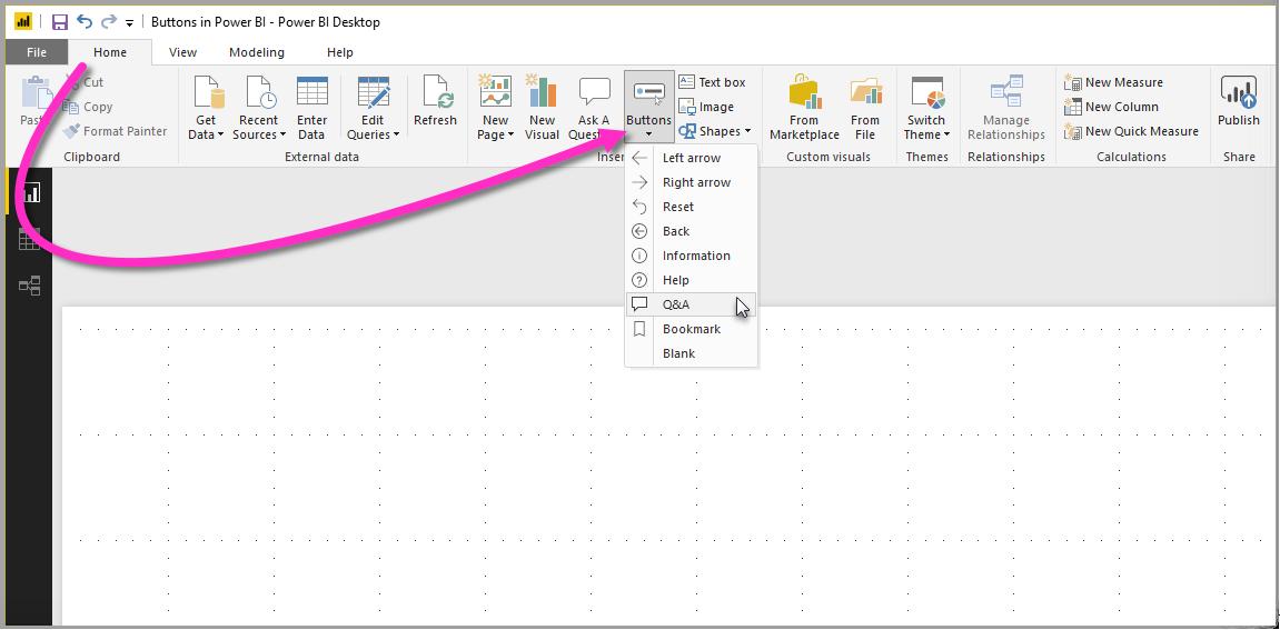 Using buttons in Power BI - Power BI | Microsoft Docs
