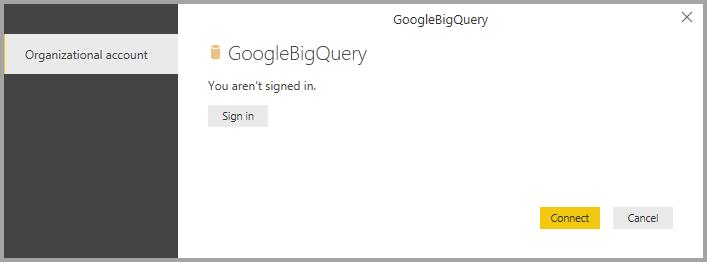Connect to a Google BigQuery database in Power BI Desktop