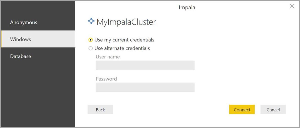 Connect to an Impala database in Power BI Desktop - Power BI
