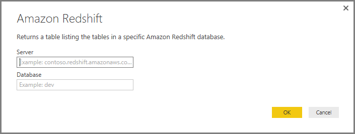 Connect to an Amazon Redshift database in Power BI Desktop - Power