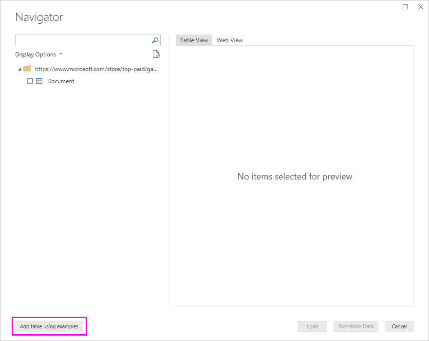 Extract data from a Web page by example in Power BI Desktop - Power