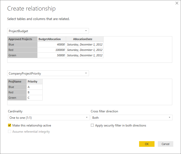 Create and manage relationships in Power BI Desktop - Power