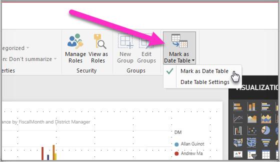 Set and use date tables in Power BI Desktop - Power BI | Microsoft Docs