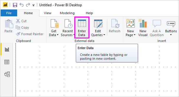 Enter data directly into Power BI Desktop - Power BI