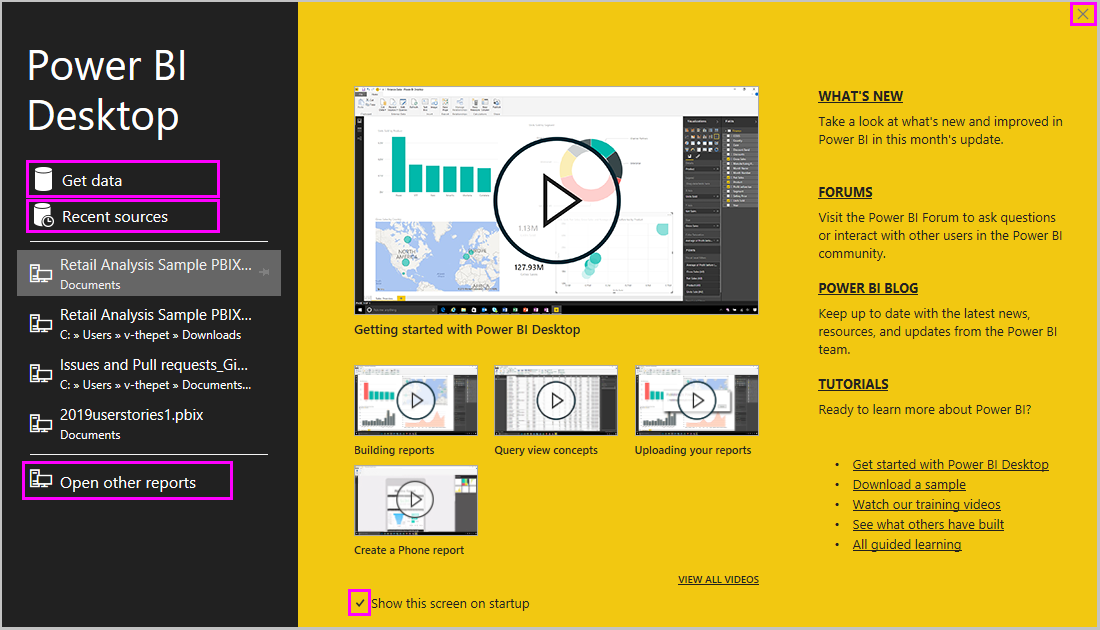 Getting started with Power BI Desktop - Power BI | Microsoft Docs