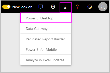 Download Power BI Desktop from Power BI service