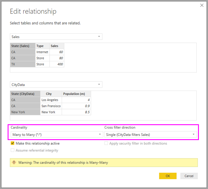 Many-to-many relationships in Power BI Desktop - Power BI