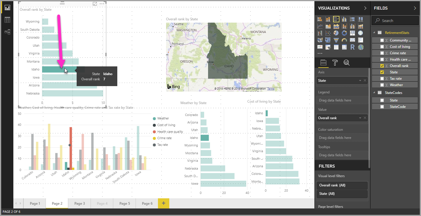 Multi-select data elements in visuals using Power BI Desktop - Power