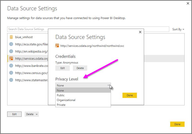 Understand Power BI Desktop privacy levels - Power BI | Microsoft Docs