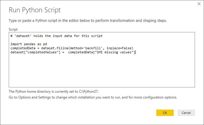 Using Python in Power BI Query Editor - Power BI | Microsoft Docs