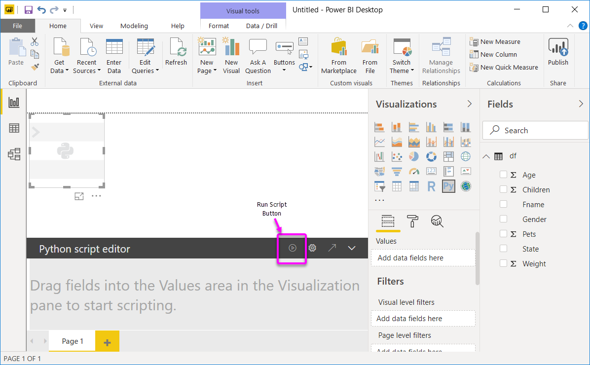 Create Power BI visuals using Python - Power BI | Microsoft Docs