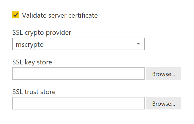 Enable encryption for SAP HANA - Power BI | Microsoft Docs