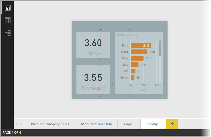 Report tooltips for Power BI Desktop