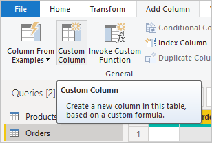 Adding a custom column