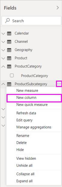 Tutorial: Create calculated columns in Power BI Desktop
