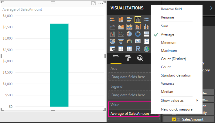 Tutorial: Create your own measures in Power BI Desktop