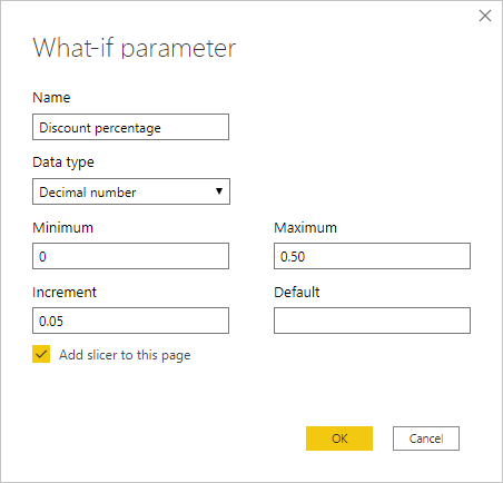 Use What if parameters to visualize variables - Power BI | Microsoft