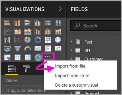 import from file - Power BI Visuals