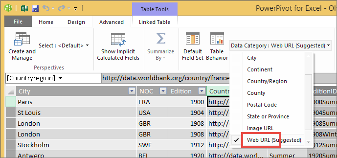 How to add a hyperlink to a table power bi microsoft docs in the reporting properties group select the data category dropdown and choose web url ccuart Images