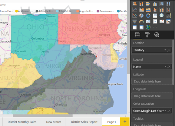 filled maps and bing