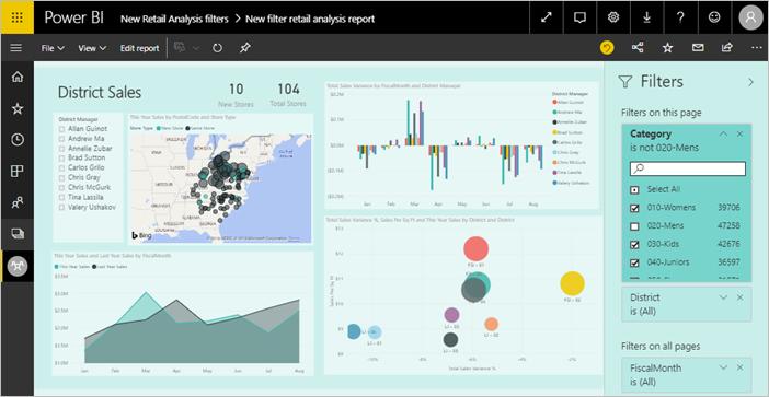The new filter experience in Power BI reports - Power BI | Microsoft