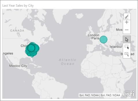 Create ArcGIS Maps By ESRI In Power BI Tutorial Power BI - Gray us map
