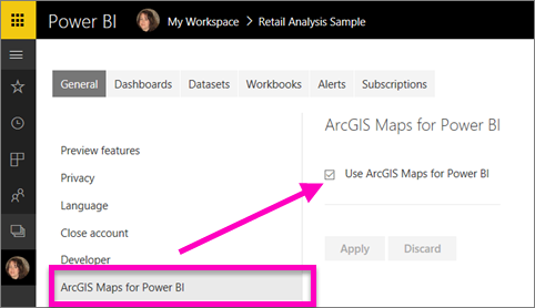 Create Arcgis Maps By Esri In Power Bi Power Bi Microsoft Docs