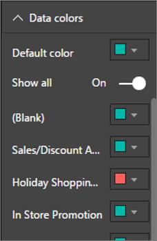 Figure 36 Set Data Point Colors