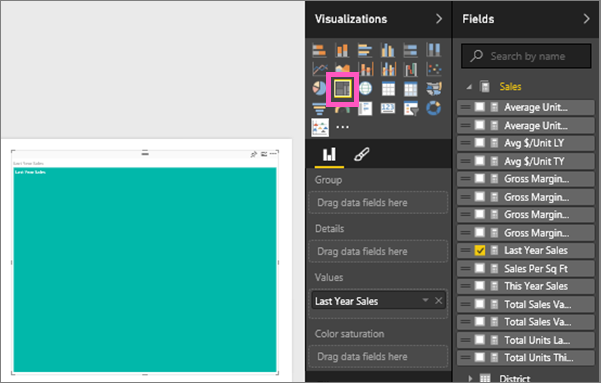 Screenshot of the treemap without configuration.