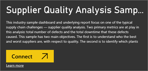 Take a tour of the samples available with Power BI - Power