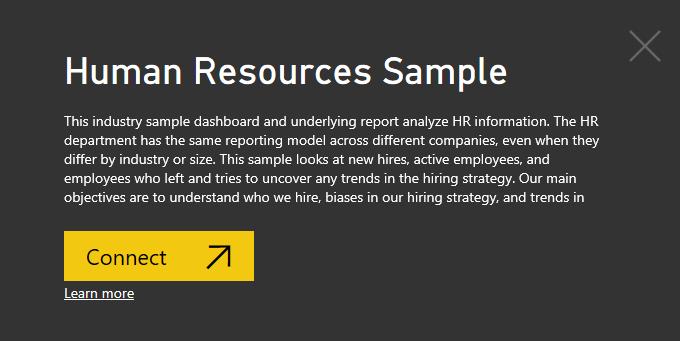 Human Resources sample: Take a tour - Power BI | Microsoft Docs