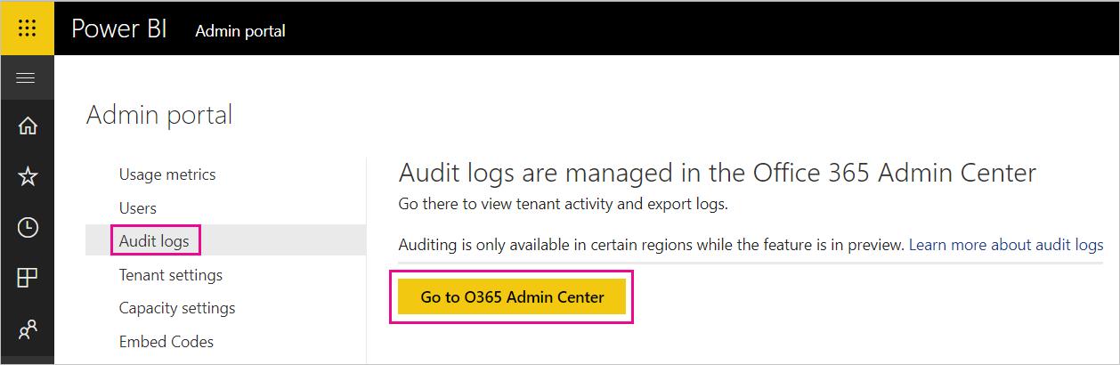 Use auditing within your organization - Power BI | Microsoft Docs