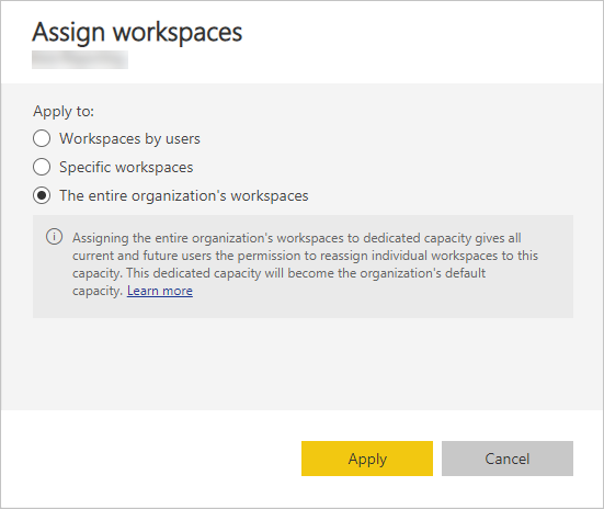 Assign workspaces