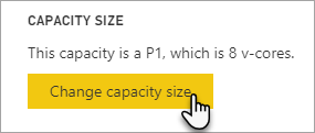 Change Power BI Premium capacity size