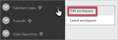Edit workspace from ellipsis context menu