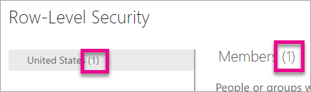 Members in role - Row Level Security in Power BI