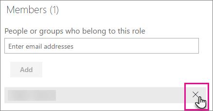Remove member