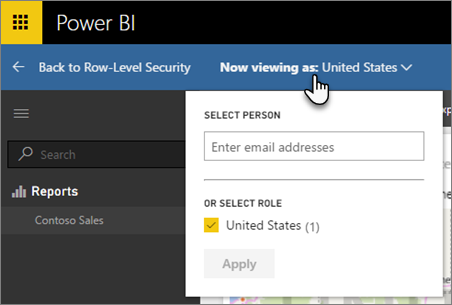 Test other roles -Row Level Security in Power BI