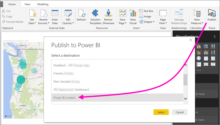 Collaborate in a classic workspace - Power BI | Microsoft Docs