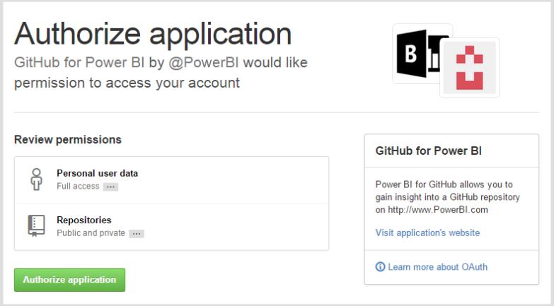 Connect to GitHub with Power BI - Power BI | Microsoft Docs