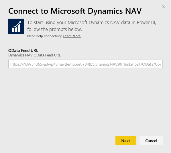 Connect To Microsoft Dynamics Nav With Power Bi Power Bi