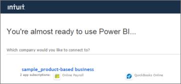 Connect to QuickBooks Online with Power BI - Power BI